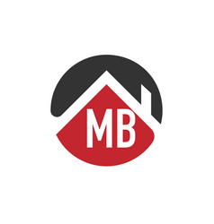 Initial letter mb building logo design template vector