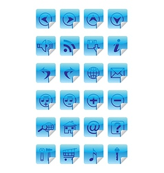 internet icon social media icon set vector image