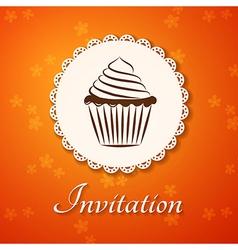 Invitation applique card background vector