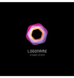 Isolated abstract polygon logo Geometry vector