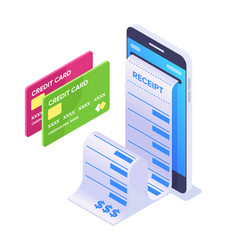 isometric mobile payment concept vector image