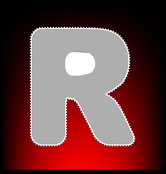 letter r sign design template element postage vector image