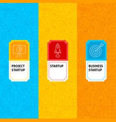 line startup package labels vector image