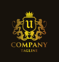 Luxury letter u logo vector