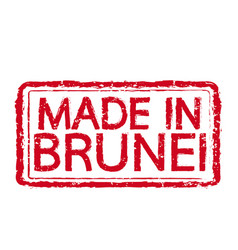 made in brunei stamp text vector image