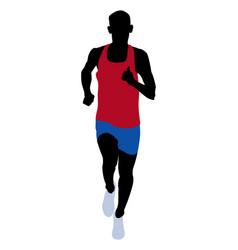 Male runner athlete vector
