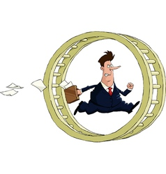 man at the wheel vector image