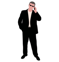 man with cellphone vector image