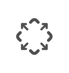 Maximize arrow icon full screen sign vector