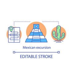 Mexican excursion concept icon travel program vector
