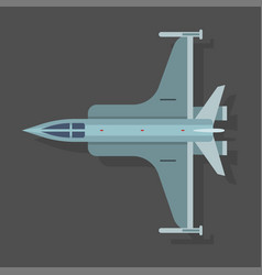 Mig airplane plane top view vector