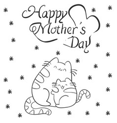 Mother day with cat character vector
