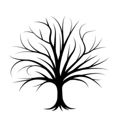 natural tree silhouette vector image
