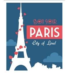 Paris Landmarks design vector image