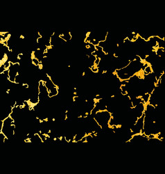 pattern black and gold marble texture vector image