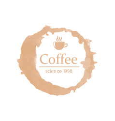 promotion card with lettering coffee science 1998 vector image