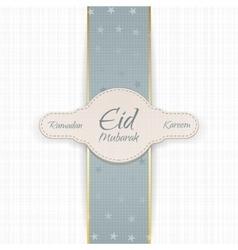 Ramadan Kareem Eid Mubarak Badge vector