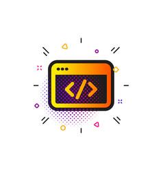 seo script icon web programming sign traffic vector image