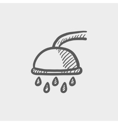Shower sketch icon vector