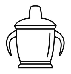 sippy cup icon outline style vector image