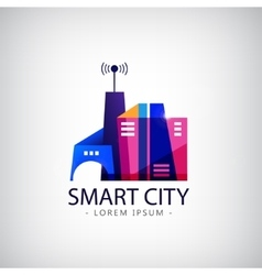 smart city real estate logo business vector image