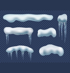snow cap realistic creativity beauty ice elements vector image