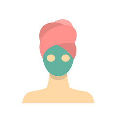 Spa facial clay mask icon flat style vector