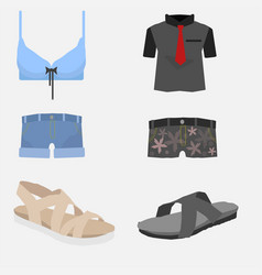 summer clothes pack free vector image