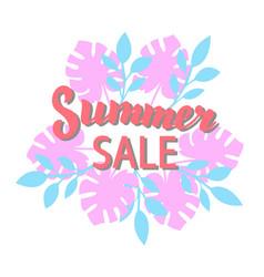 summer sale promotion banner trendy summer season vector image