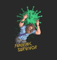 Survivor coronavirus pandemic vec vector