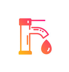 Tap water icon faucet with aqua drop sign vector