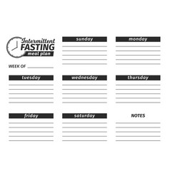 template for the creation of the food menu vector image