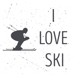 The skiers silhouette vector image