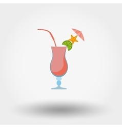 Tropical summer coctail vector