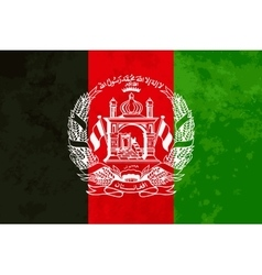True proportions Afghanistan flag with texture vector image