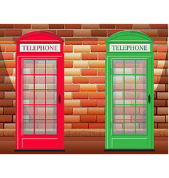Two telephone booth on street vector image