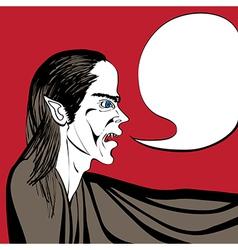 vampire talk vector image