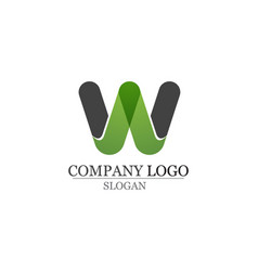 W letters business logo and symbols template app vector