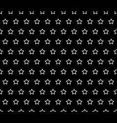 white star line on black background vector image