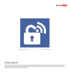 Wifi locked signs - blue photo frame vector