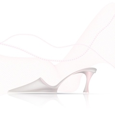 abstract light shoe vector image vector image