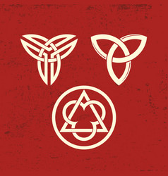 ancient christian symbols of the trinity vector image