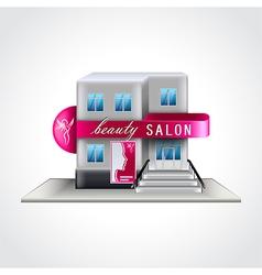 Beauty salon building isolated vector