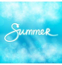 Blue Abstract Background with Text Summer vector image