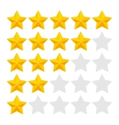 Five Rating Stars on White Background vector image