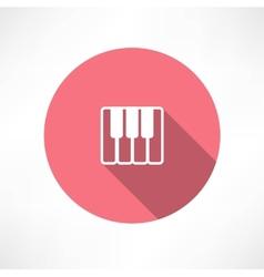 piano keys icon vector image