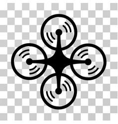 quadcopter screw rotation icon vector image