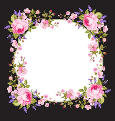 spring flowers border vector image vector image