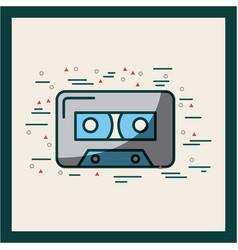 audio cassette embellished poster vector image