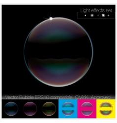 Colorful transparent Soap Bubble set vector image